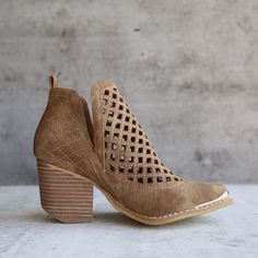 """- well constructed - super soft 'leather' like material - Upper is all man-made distressed leather, leather wrapped heel - imported Shaft Height: 4"""" Heel Height: 3"""" Closure: Slip On Opening: 10"""""""