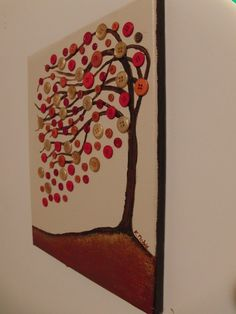 Original Perfect Day abstract tree with buttons by kimtacullar