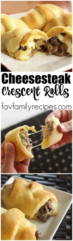 These Cheesesteak Crescent Rolls are like mini Philly Cheesesteaks. They are so simple and easy to make and they taste great. Perfect for a snack or appetizer.