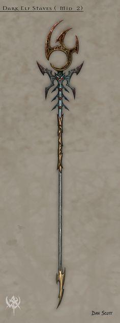 Dark Elf Staves ( Mid 2 )