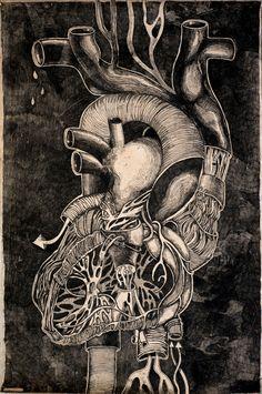 """""""Anatomy Heart"""" by Olesya Drashkaba."""