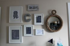 Boy Nautical Nursery Gallery Wall