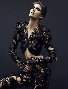 Latex | or leather? | Vogue Russia
