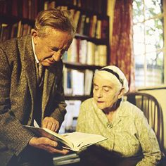 J.R.R. and Edith Tolkien in Oxford, 1961.