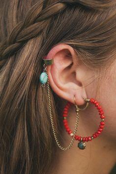 DIY: ear cuffs (two ways)