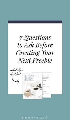 "Last opt-in freebie barely got any signups? Don't sweat it girlfriend - we've ALL been there. And it doesn't have to be that way! Click through to learn the 7 crucial questions you need to ask yourself before moving forward with your next freebie. Only when you've given a resounding ""yes!"" to all 7 questions can you take your idea and run with it. #emaillist #emailmarketing #bloggingtips #optinfreebies via Blog Beautifully"