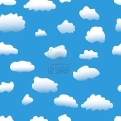 Seamless  background: sky &, clouds
