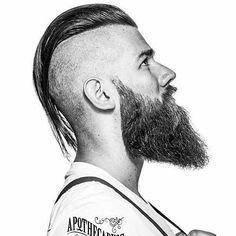Long Slick Back with Shaved Sides