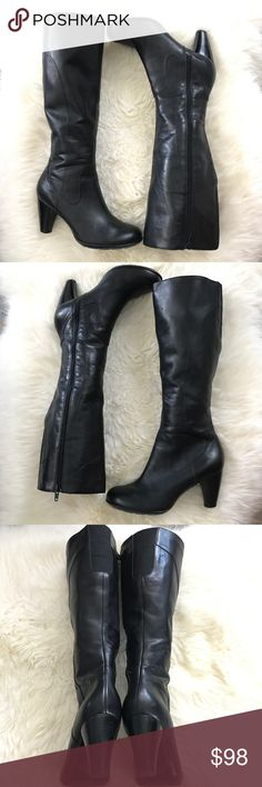 Knee high black leather boots size 8 Black leather knee high boots size 8  Ⓜ️size 8 Ⓜ️heel 3  Ⓜ️platform 0.5 Ⓜ️shaft 15 Ⓜ️width 15 (plus stretch panel)   Black leather boots, in new condition, (a little store wear as seen in pictures) no box. Inside zipper, back elastic panel for flex. Inside printed corduroy soft warm fabric.   ✅bundle  ✅ ✅REASONABLE offers will be considered  No Trading  Poshmark rules only‼️ indigo Shoes Over the Knee Boots