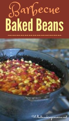 Barbecue Baked Beans Recipe  |  whatscookingamerica.net  |  #barbecue #baked #beans