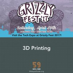 The Spriggs are bringing their 3D Printing to the 59DaysOfCode Tech Expo. They made our keychains! Get one Saturday. #59DOC #GrizzlyFest