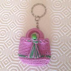 La piccola bottega della Creatività: Mini borsetta portachiavi - tutorial uncinetto - free crochet pattern