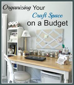 Organizing Your Craft Room on a Budget from VintagePaintandMore.com