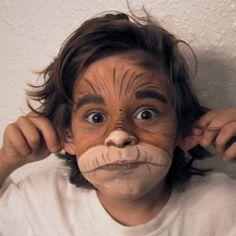 Make Up - monkey. Cute Clown Makeup, Halloween Makeup Looks, Kids Monkey Costume, Monkey Makeup, Monkey Face Paint, The Twits, Kids Makeup, Theatrical Makeup, Cute Monkey
