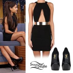 Ariana Grande at The Tonight Show Starring Jimmy Fallon on March 2015 – photo: agrande-news Really Cute Outfits, Cute Comfy Outfits, Celebrity Outfits, Celebrity Style, Ariana Grande Outfits Casual, Star Fashion, Fashion Outfits, Stage Outfits, Her Style