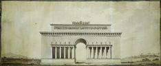 Étienne-Louis Boullée. Elevation of the Arc de Triomphe