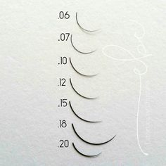 Esthetics by Christine: Eyelash Extension Diameter