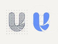 U by ADIYou can find Logo icons and more on our website.U by ADI Typo Logo Design, Branding Design, Logo Design Trends, Graphic Design, Logo Design Inspiration, Icon Design, Modelo Logo, Crea Design, Logo Process