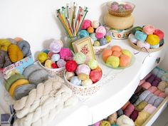 in love with this yarn display...one day I want one like it in my craft room...