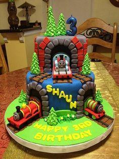 Train Birthday Cake Pinterest
