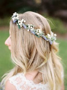 Verträumter Haarschmuck mit Lavendel
