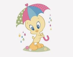 A rainy day Looney Toons, Baby Looney Tunes, Looney Tunes Cartoons, Tweety Bird Drawing, Tweety Bird Quotes, Cartoon Caracters, Daycare Themes, Kids Cartoon Characters, Cartoon Clip