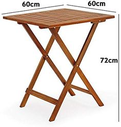 Deuba Garden Table and Chairs Bistro with 2 Folding Chairs And 1 Table Acacia Wood: Amazon.co.uk: Garden & Outdoors