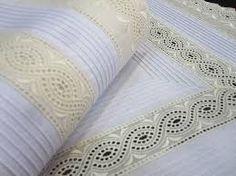 Resultado de imagen de sabanas bordados a mano con puntillas