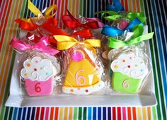 I was thinking of making cookies like this except making rainbows and the number 5's.
