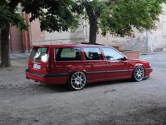 My 850 wagon lowered Volvo stance