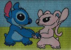 Lilo and Stitch Angel cross Valentine's Day stitch by Katiechui