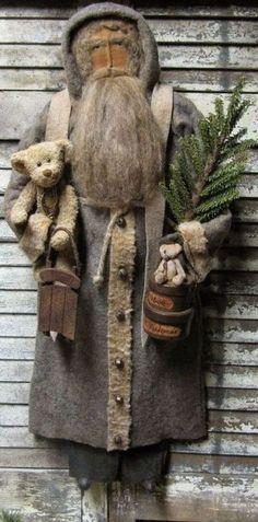Image result for primitive santa doll