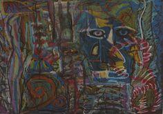 """""""Allo specchio"""" Pastelli a olio su carta 35x50"""