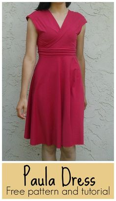 Damenkleid..kostenloses Schnittmuster und ANleitung in Englisch