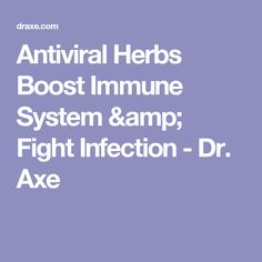 Antiviral Herbs Boost Immune System & Fight Infection - Dr. Axe