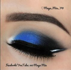 Pretty in blue Sexy Makeup, Kiss Makeup, Pretty Makeup, Beauty Makeup, Makeup Looks, Hair Makeup, Hair Beauty, Blue Makeup, Maya Mia