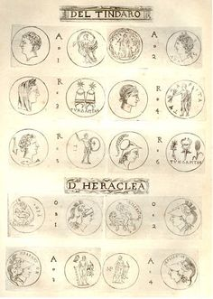 RARE PRINT -SICILIAN COINS by Maier -1697- DEL TINDARO , $24.99