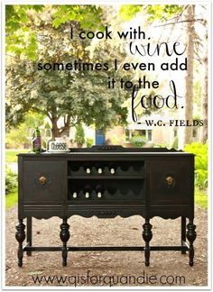 Not sure what we love more ... The beautiful black beauty buffet or the fantabulous quote!