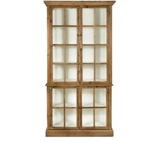 boston interiors swanson bookcase. The Swanson is a beautifully constructed of fir wood and glass. Features four glass doors and four shelves. Stocked in an oil base finish with bronze metal hardware.