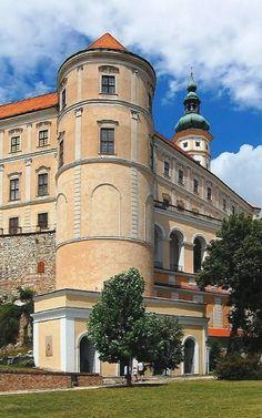 Mikulov Castle in South Moravia, Czech Republic