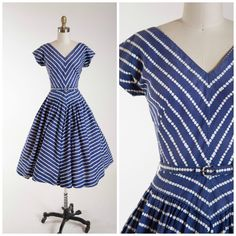 1950s Vintage Dress • Charmed Confection • Navy Blue Polka Dot Cotton Vintage 50s Dress by Jerry Gilden Size Small by stutterinmama on Etsy https://www.etsy.com/uk/listing/266122600/1950s-vintage-dress-charmed-confection