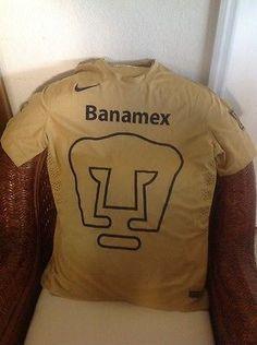 PUMAS  UNAM HOME NIKE SHORT SLEEVES SOCCER/FUTBOL JERSEY NWT Size M Men's