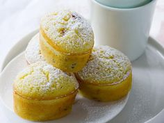 Lemon and cranberry friands recipe by Australian Women's Weekly, These popular French cakes are light, fluffy and delicious served with a dollop of yoghurt on the side. Lemon Recipes, Baking Recipes, Sweet Recipes, Cookie Recipes, Pastry Recipes, Cupcake Recipes, Tea Cakes, Mini Cakes, Cupcake Cakes