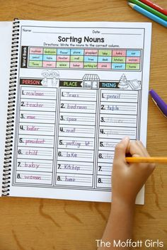 Teach nouns in a fun and effective way with the Grammar and Language Arts NO PREP Packet for 2nd Grade!