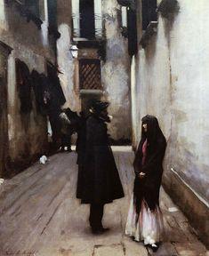 Venetian Street - John Singer Sargent - WikiArt.org