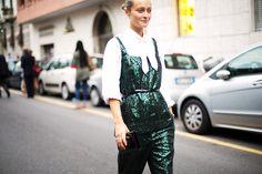 sparkly. #DariaShapovalova in Milan.