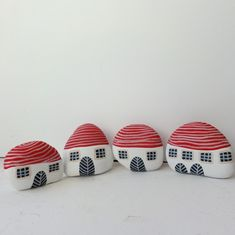 Large Painted Stones - could use as bookends, doorstops, fairy houses in garden bed etc