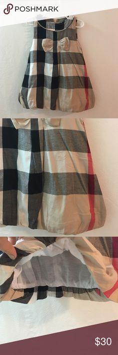 Ruffled Bottom Burberry Girls Dress Beautiful little balloon Dress! NWT #inspired Choose the size you'd like below! Price is firm unless bundled Burberry Dresses