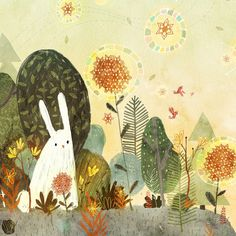 Whimsical watercolor paintings to inspire the child in everyone. By children's book illustrator Lee White. Art And Illustration, Watercolor Illustration Children, Rabbit Illustration, Book Illustrations, Drawing, Bunny Art, Spring Art, Whimsical Art, Cute Art