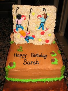 rock climbing cake rice krispy